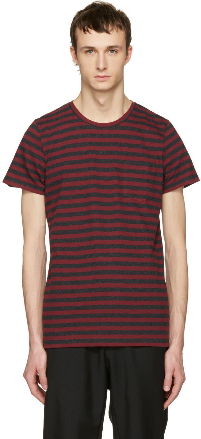 A.p.c. Red Striped Keanu T-shirt