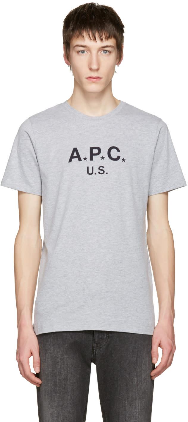 A.p.c. Grey Logo T-shirt