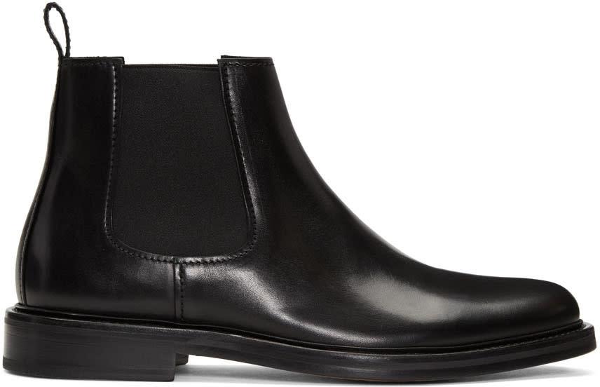 A.p.c. Black Elastic Chelsea Boots