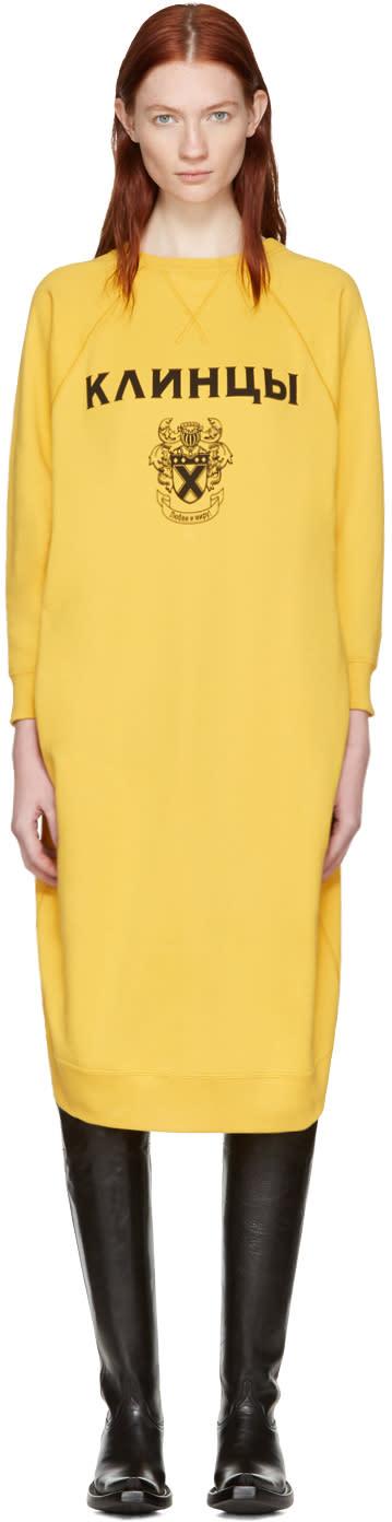 Junya Watanabe Yellow Pullover Dress