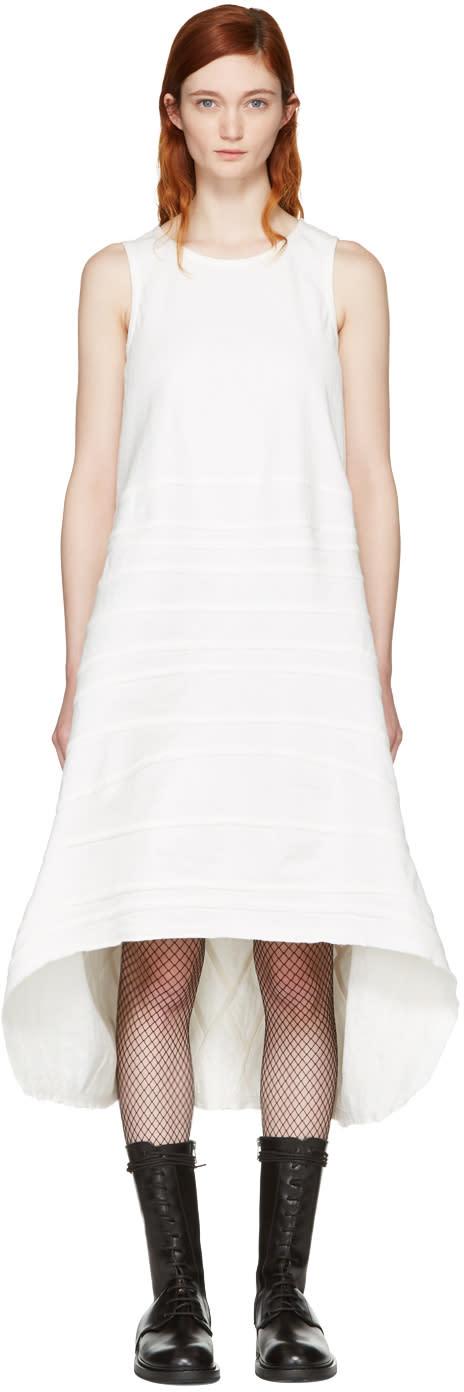 Junya Watanabe White Denim Seam Stripe Dress