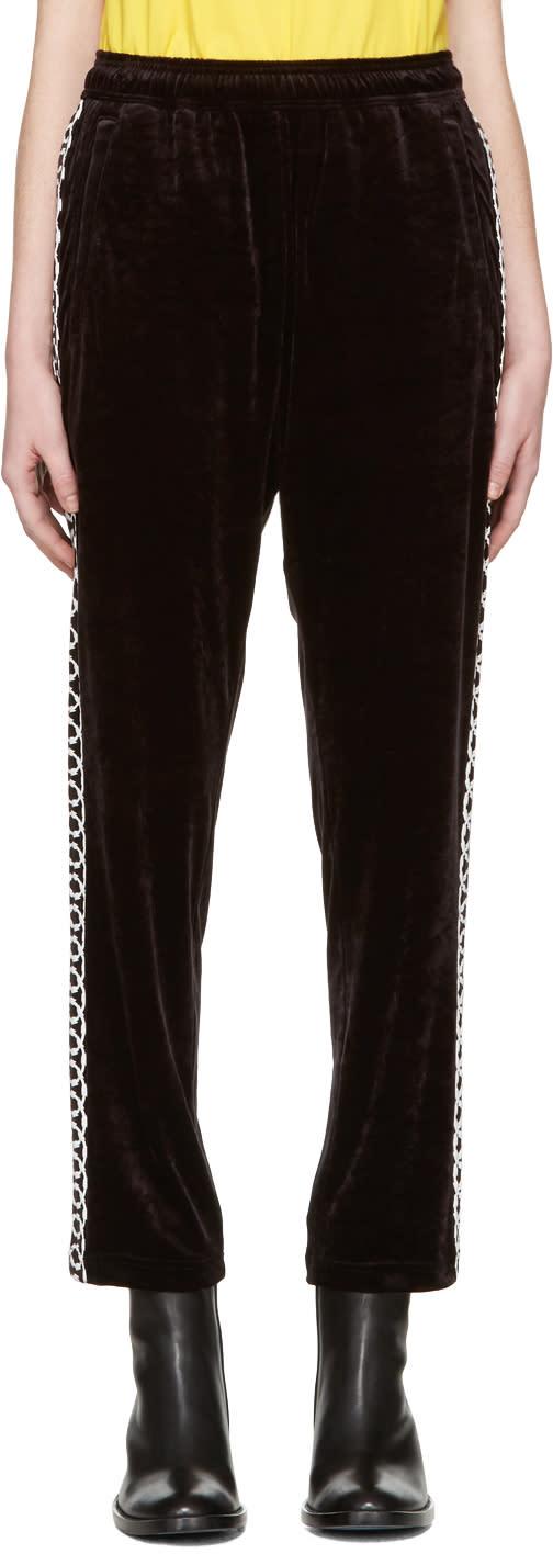 Junya Watanabe Black Velour Lounge Pants