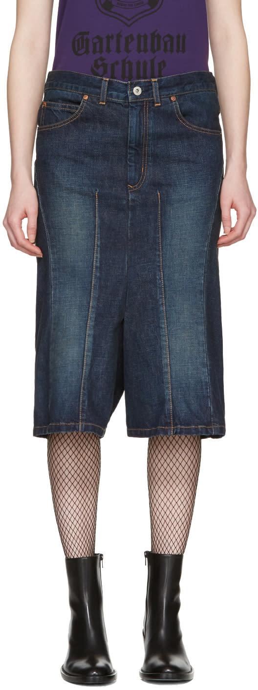 Junya Watanabe Indigo Cropped Jeans