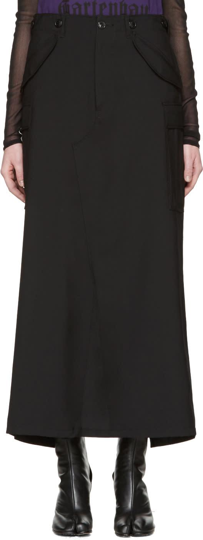 Junya Watanabe Black Wool Cargo Skirt