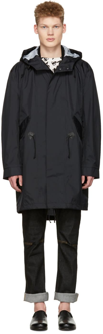 Junya Watanabe Black Nylon Hooded Jacket