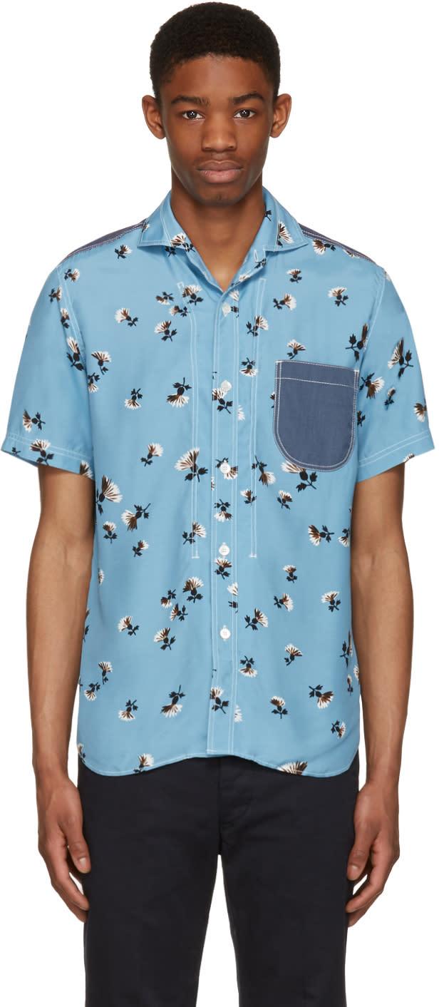 Junya Watanabe Blue Floral Shirt