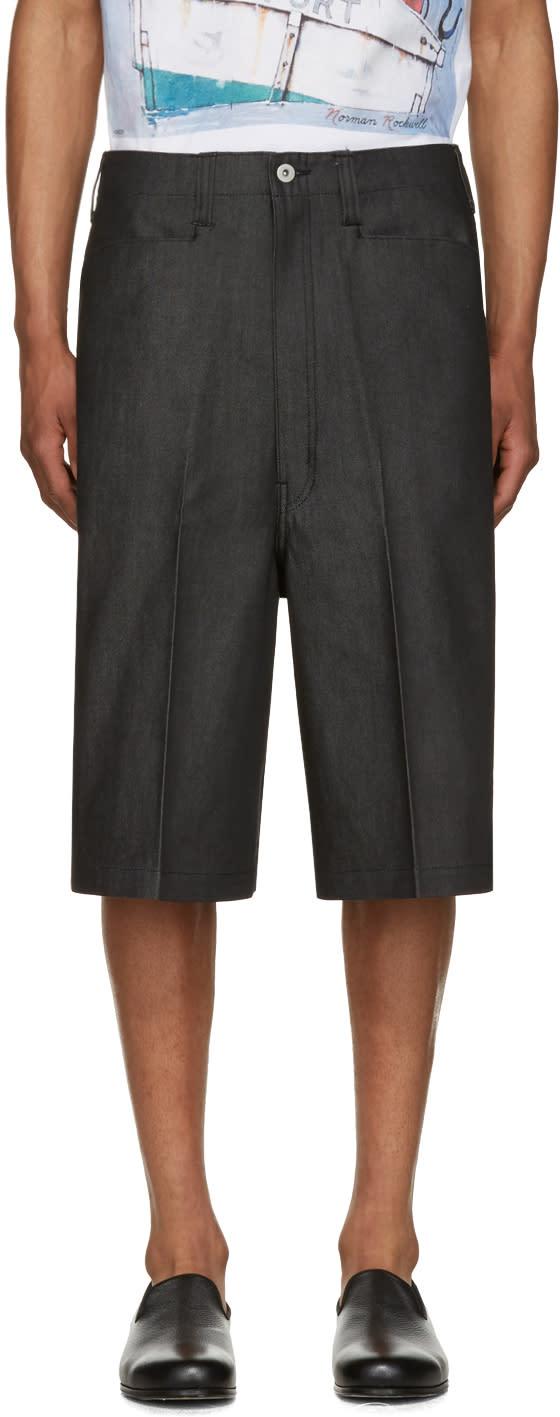 Junya Watanabe Black Denim Shorts