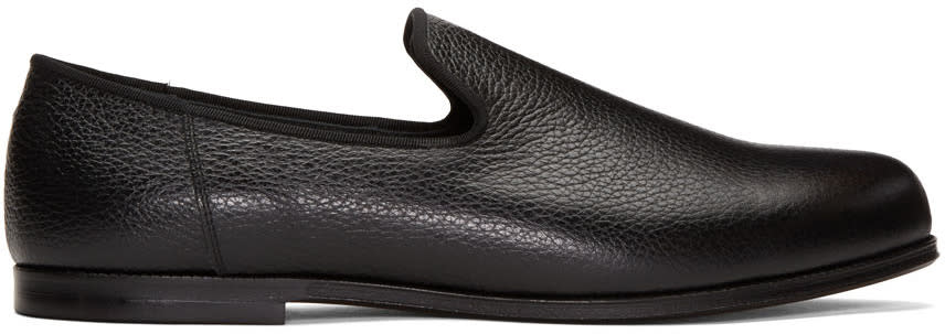 Junya Watanabe Black Leather Loafers