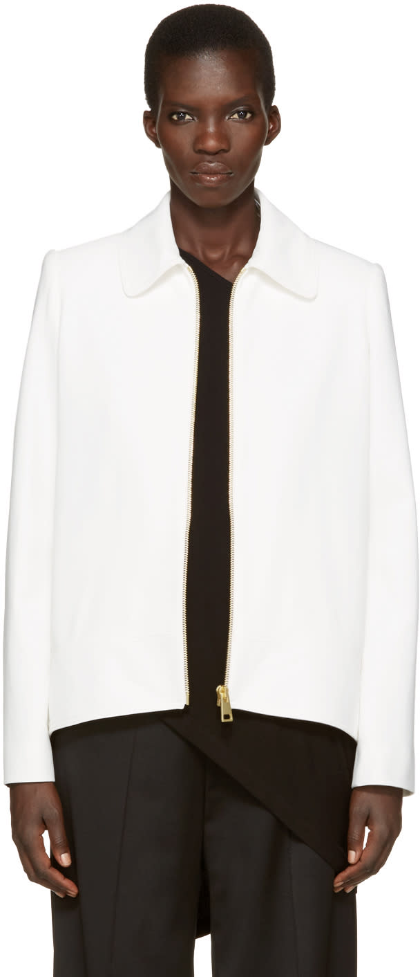 Lanvin Ivory Short Zip Jacket