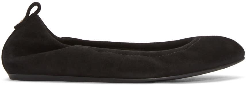 Lanvin Black Suede Classic Ballerina Flats