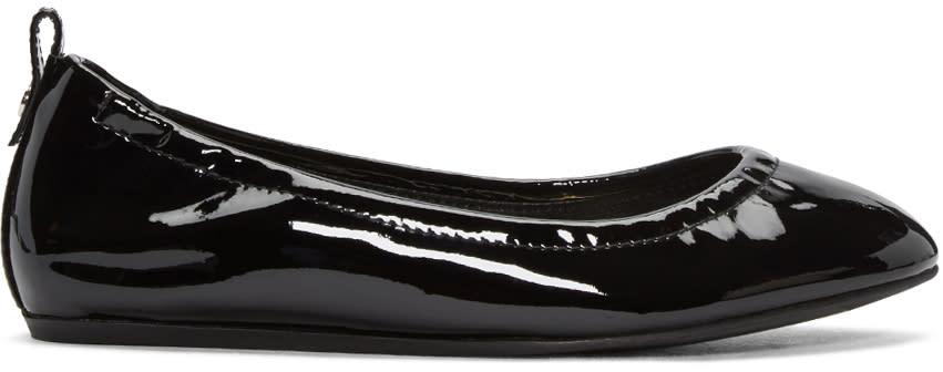 Lanvin Black Patent Leather Classic Ballerina Flats