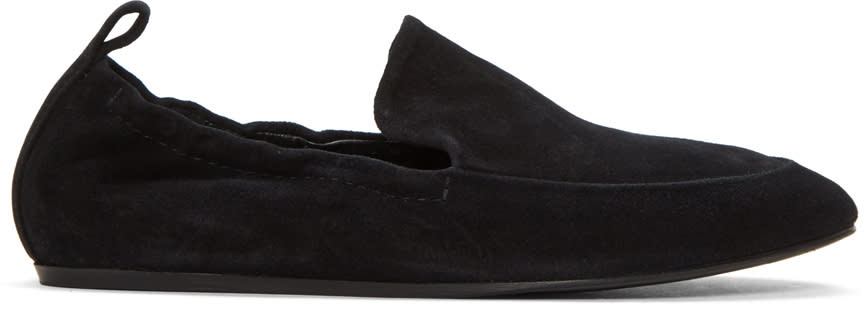 Lanvin Black Suede Classic Loafers