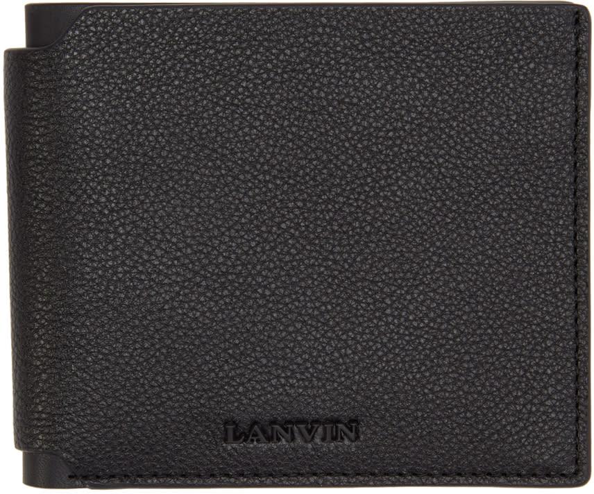 Lanvin Black Leather Wallet