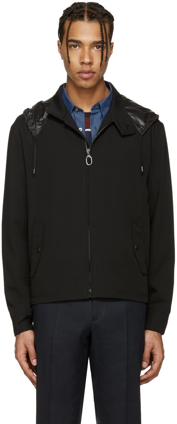 Lanvin Black Wool Cropped Crane Jacket