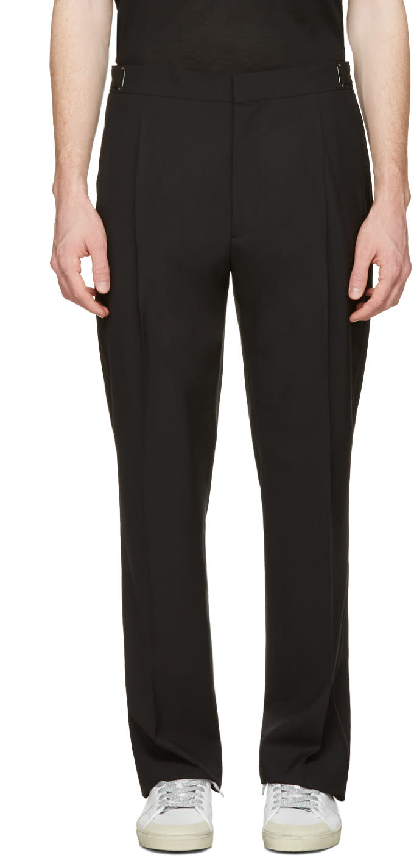 Lanvin Black Wool Trousers
