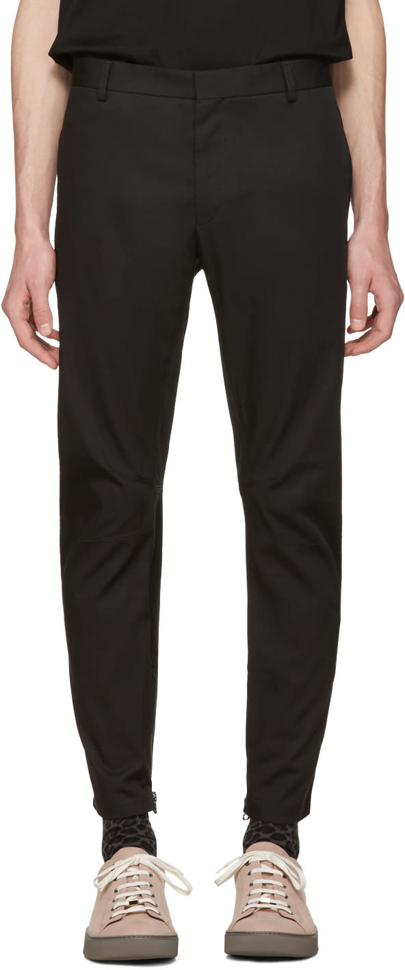 Lanvin Black Biker Chino Trousers