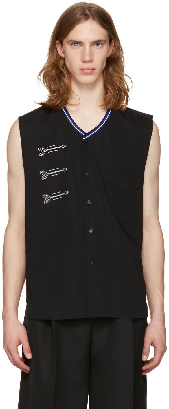 Lanvin Black Embroidered Shirt