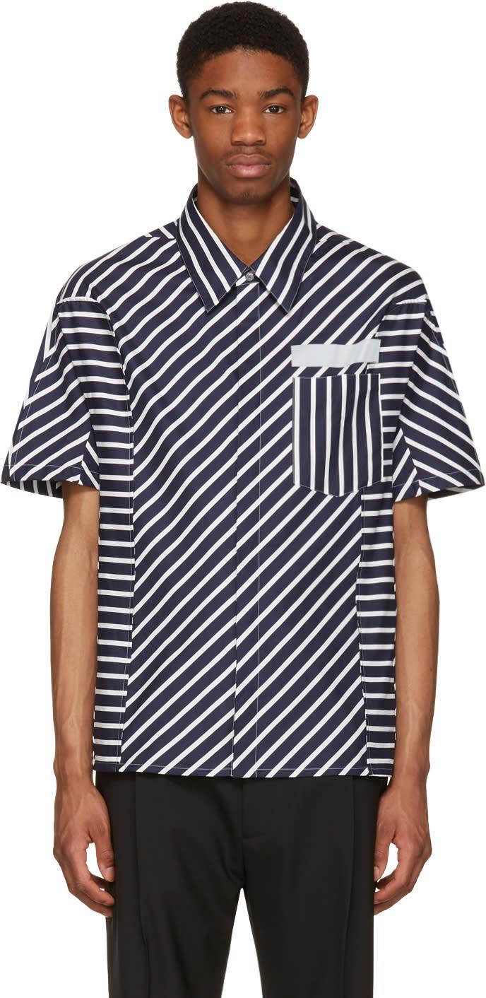 Lanvin Navy Stripes Shirt