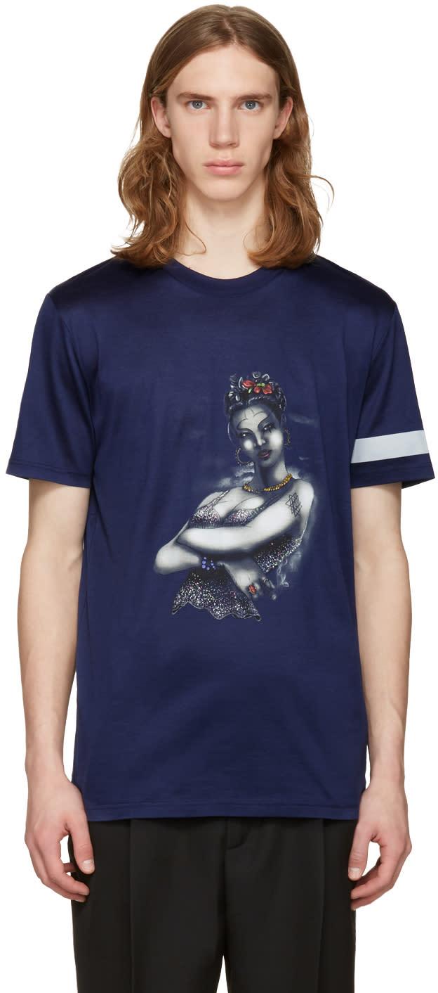 Lanvin Blue Tattoo T-shirt