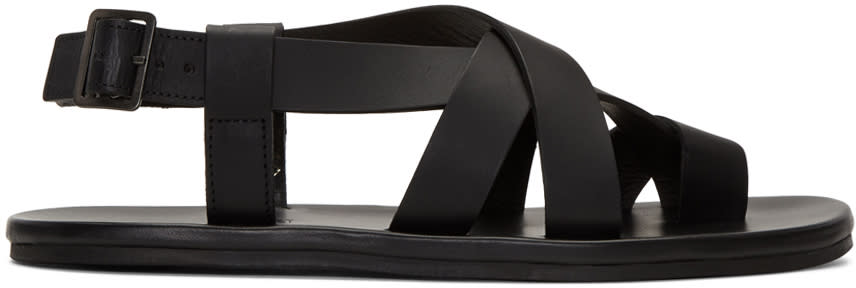 Lanvin Black Multi Strap Sandals