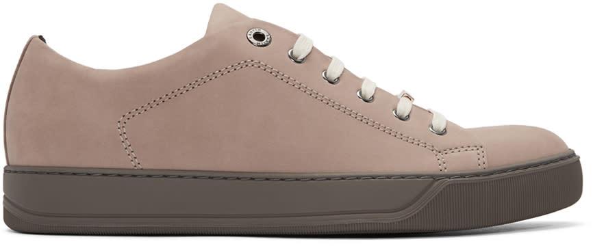 Lanvin Pink Suede Tennis Sneakers