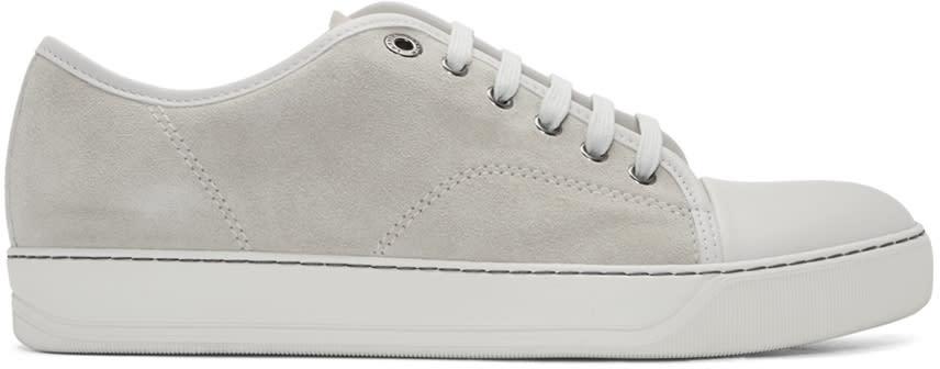 Lanvin Beige Suede Tennis Sneakers