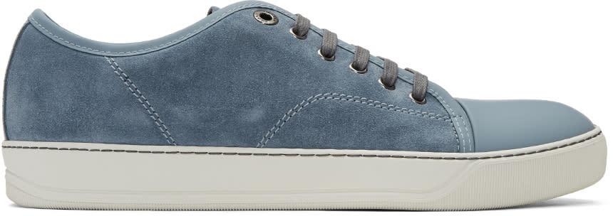 Lanvin Blue Suede Tennis Sneakers