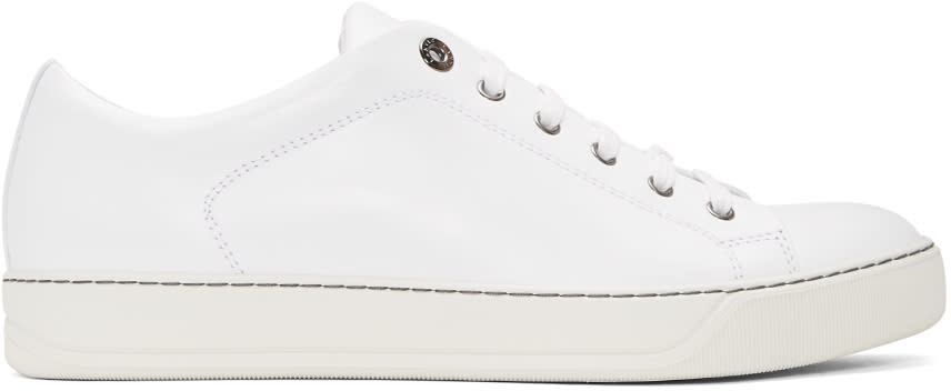 Lanvin White Leather Sneakers
