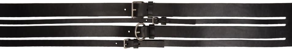 Alexander Mcqueen Black Multiple Straps Belt