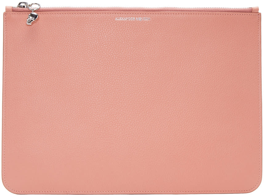 Alexander Mcqueen Pink Leather Pouch
