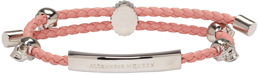 Alexander Mcqueen Pink Friendship Skull Bracelet