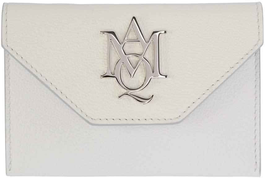 Alexander Mcqueen Ivory Insignia Envelope Card Holder