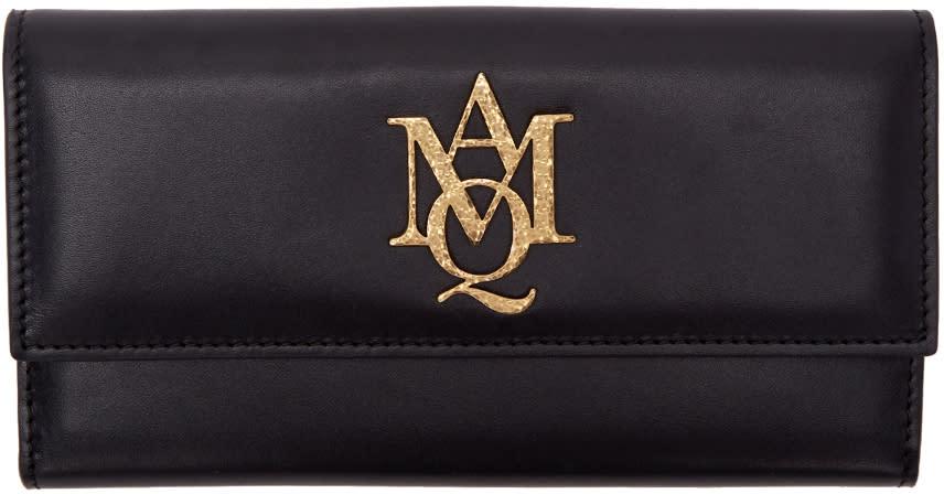 Alexander Mcqueen Black Insignia Wallet