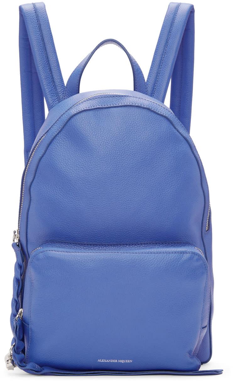 Alexander Mcqueen Blue Small Backpack