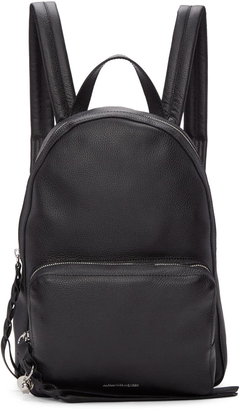 Alexander Mcqueen Black Small Backpack