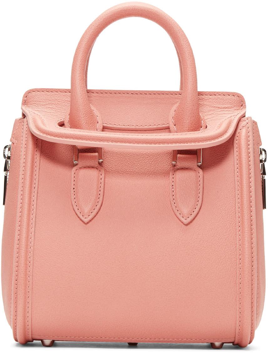 Alexander Mcqueen Pink Mini Heroine Bag