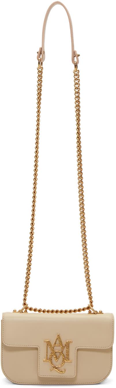 Alexander Mcqueen Pink Small Insignia Chain Satchel