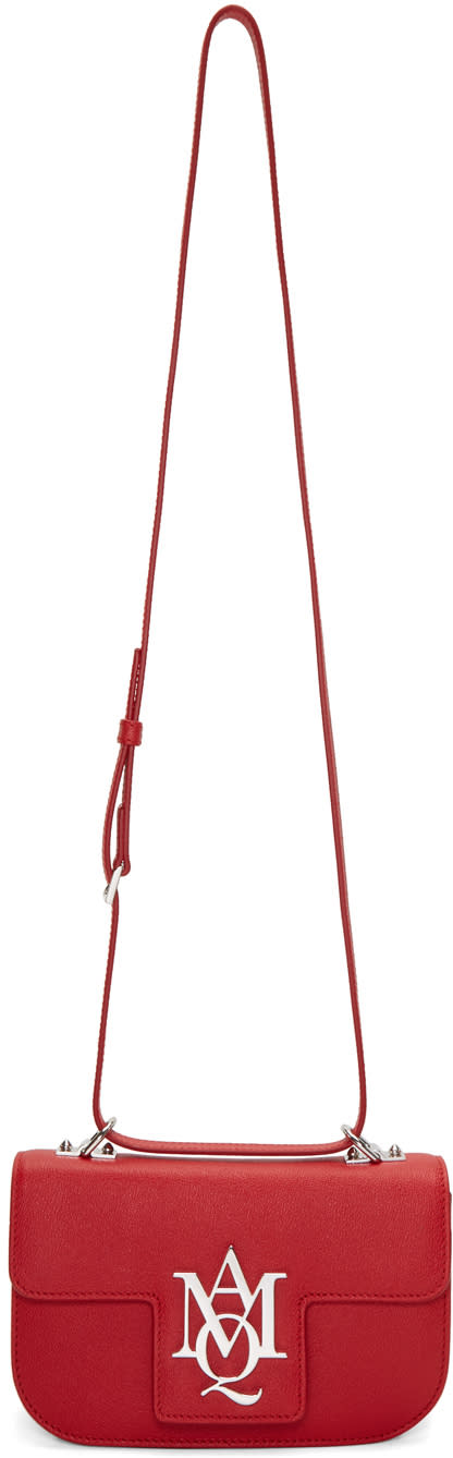 Alexander Mcqueen Red Insignia Bag