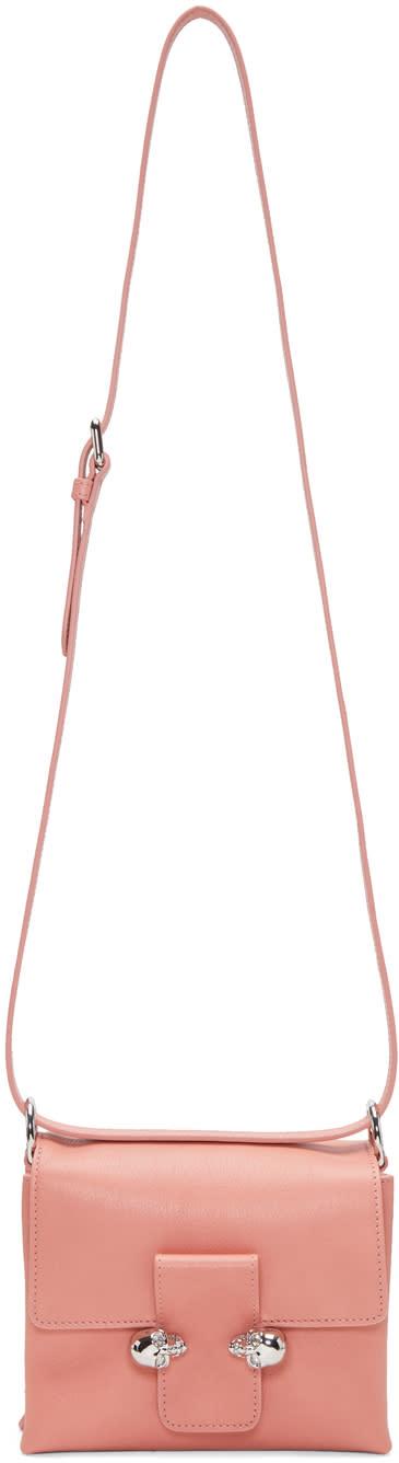 Alexander Mcqueen Pink Twin Skull Shoulder Bag