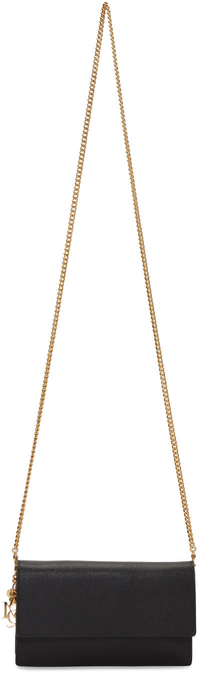 Alexander Mcqueen Black Leather Chain Shoulder Bag