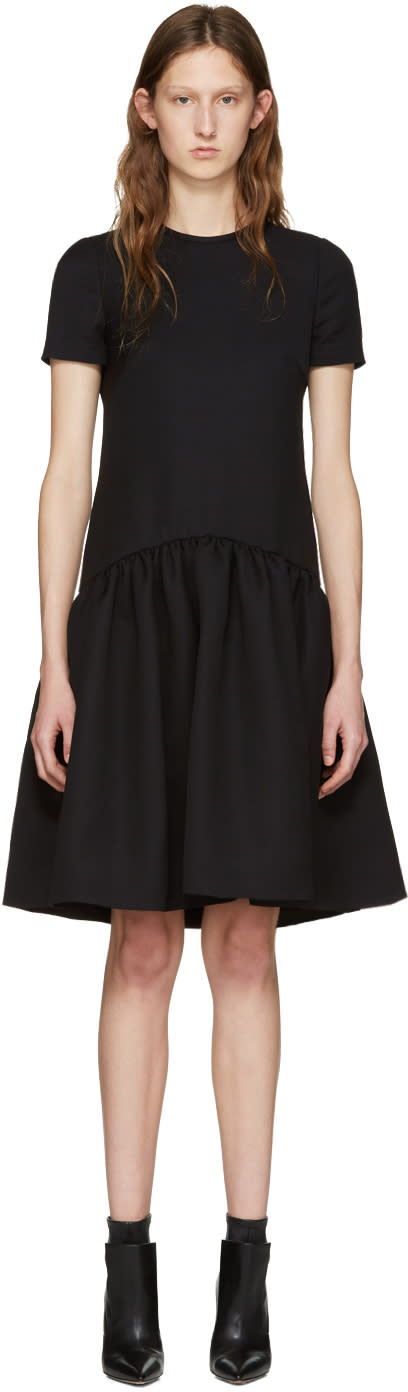 Alexander Mcqueen Black Peplum Dress