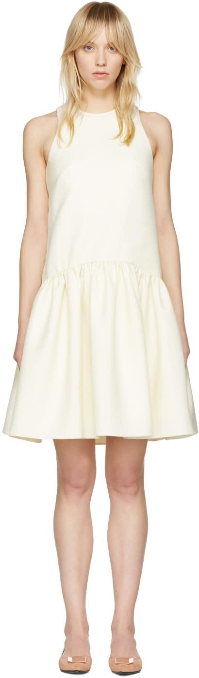 Alexander Mcqueen Ivory Drop Waist Dress