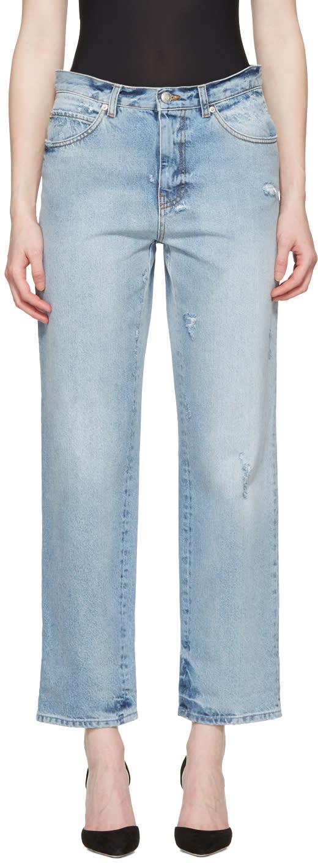 Alexander Mcqueen Blue Loose Fit Jeans
