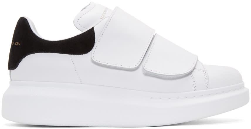 Alexander Mcqueen White Leather Velcro Sneakers