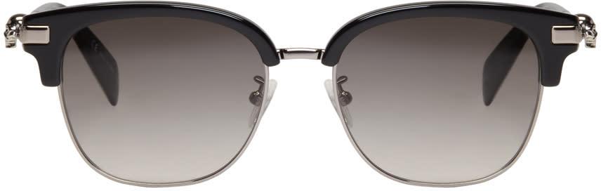 Alexander Mcqueen Black Classic Club Sunglasses