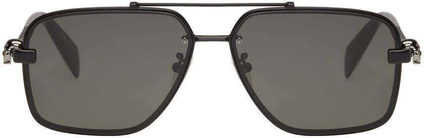 Alexander Mcqueen Black Classic Caravan Sunglasses