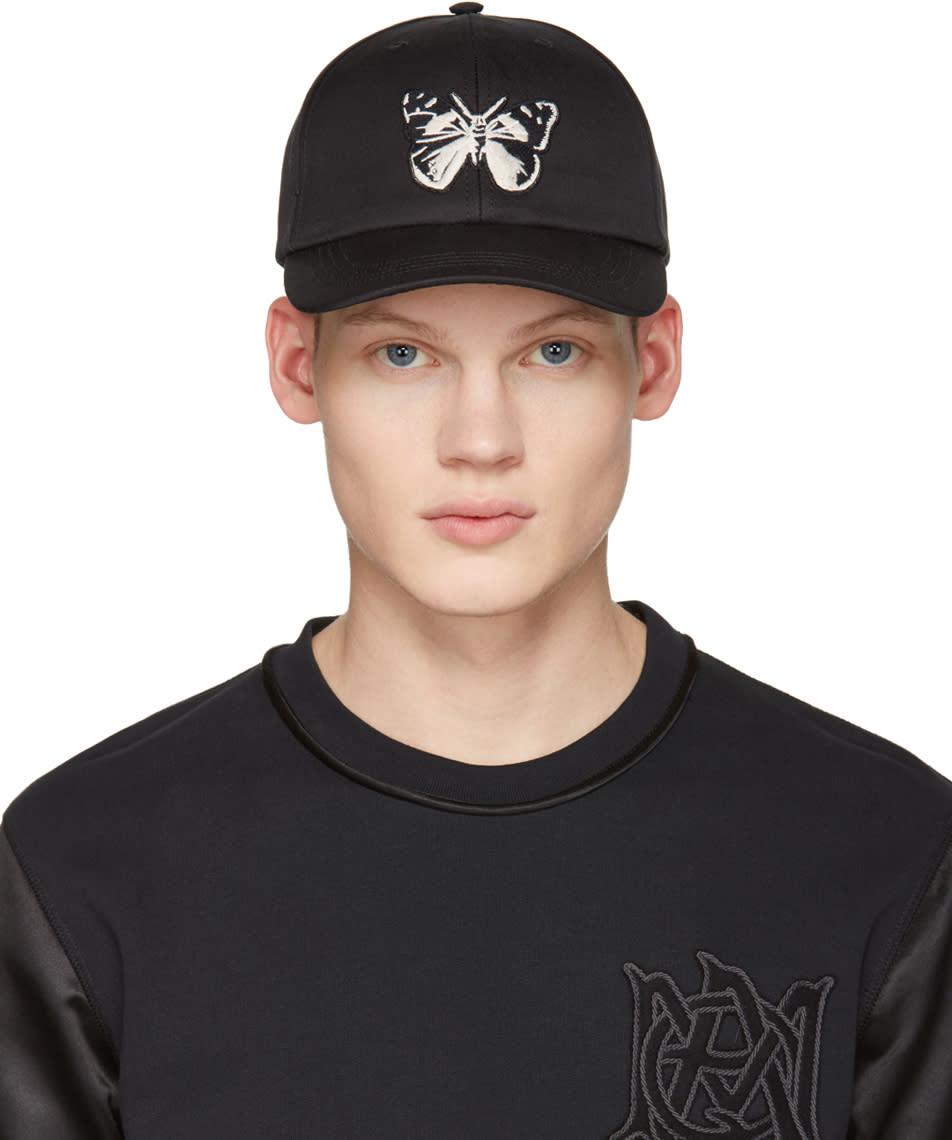 Alexander Mcqueen Black Butterfly Cap