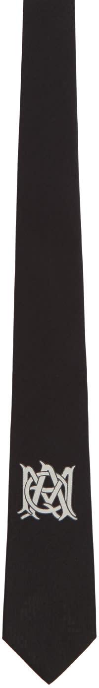 Alexander Mcqueen Black Insignia Tie