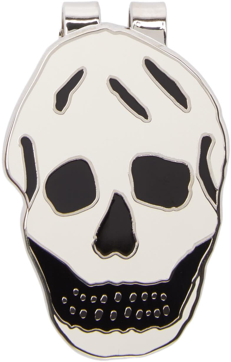 Alexander Mcqueen Silver Skull Money Clip