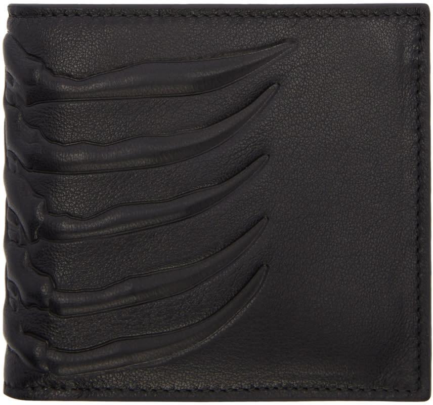 Alexander Mcqueen Black Rib Cage Wallet